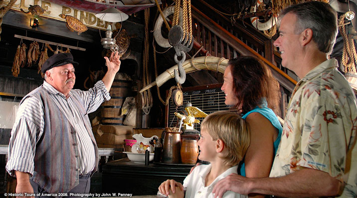 photo of the interior of the key west shipwreck museum