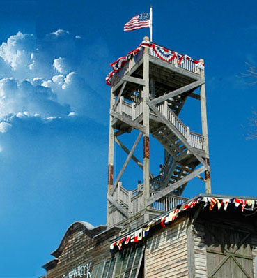 Photo of the Key West Shipwreck Museum lookout tower.