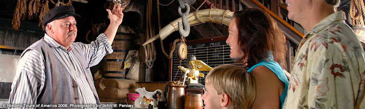photograph of the inside of the key west shipwreck museum