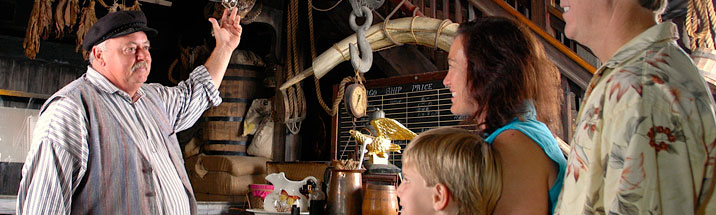 inside photograph of the key west shipwreck museum