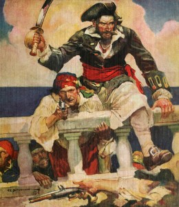 --A Depiction of Blackbeard--  Blackbeard was often referred to as a buccaneer.