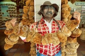 FL006 Florida Keys Key West Mallory Square Sponge Market sponger mannequin souvenir shops